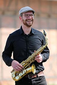 David am Alt-Saxofon