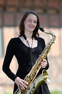 Marlen am Tenor-Saxofon