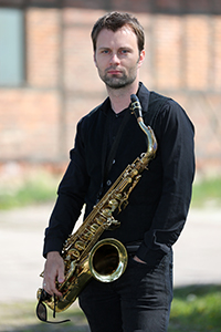 Tino am Tenor-Saxofon